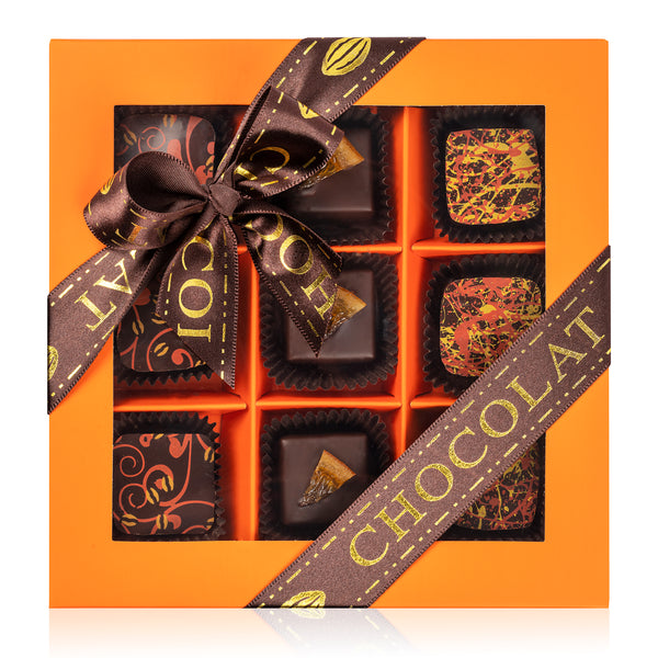 Truffle Collection Colored Window Gift Box - 9pcs