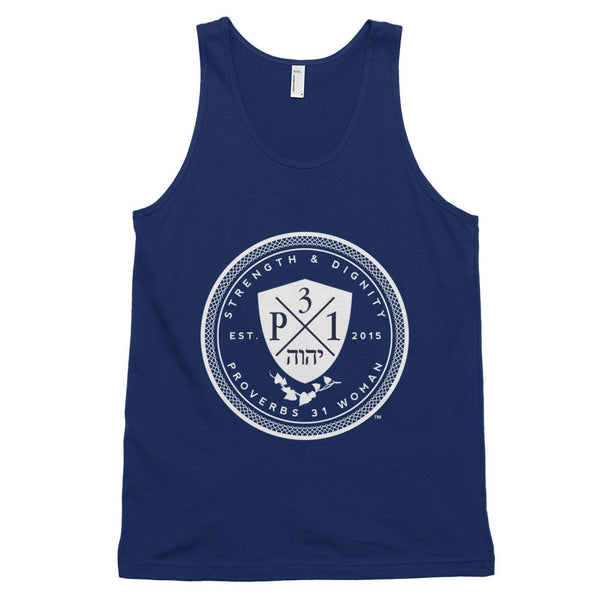 Signature P3One Emblem Classic tank top (Navy)