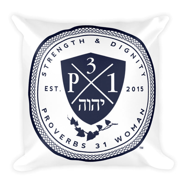 Signature P3One Emblem Square Pillow