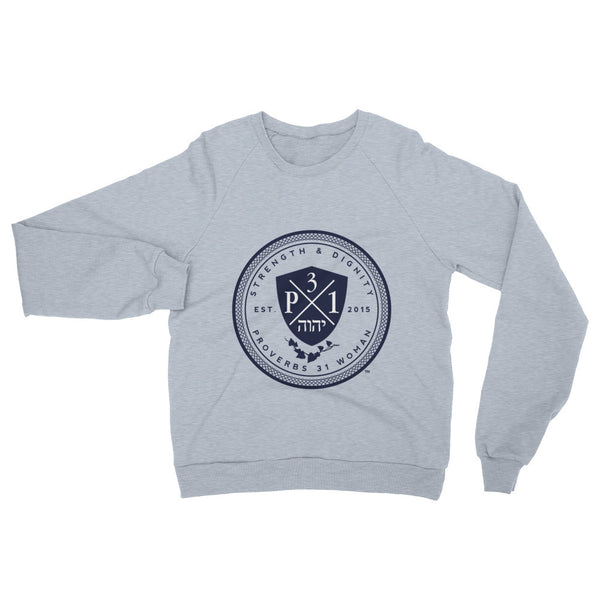 Signature P3One Emblem Raglan sweater (Heather Grey)