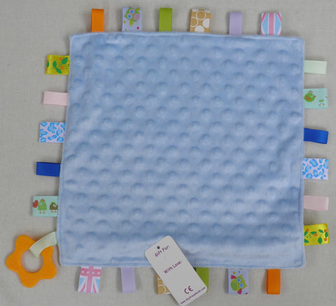 C5 Blue Baby Comforter With Teether Ring.