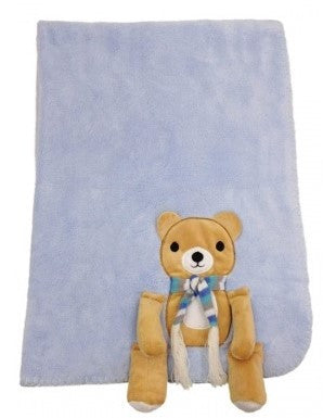 B08 Teddy with scarf Blanket