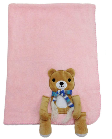 B09 Teddy with scarf Blanket