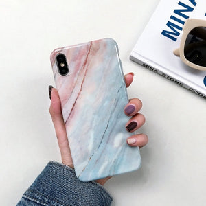 Fancy iPhone Marble Case Cover Soft TPU - BUY 1 GET 1 FREE