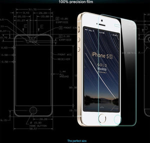 High Quality Ultra-thin Clear Real Tempered Glass Screen Protector For iPhone