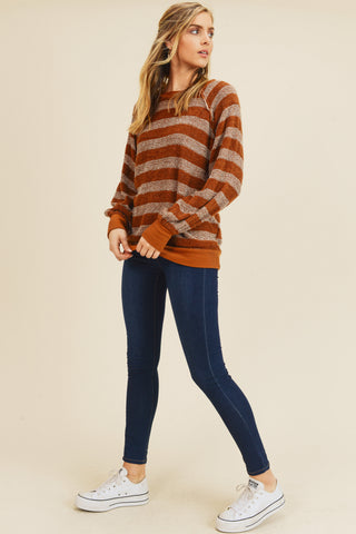 Maple Striped Boucle Sweater