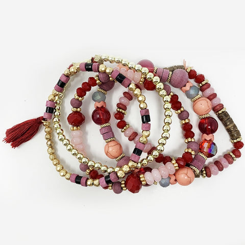 Mixed Bead Bracelet Set