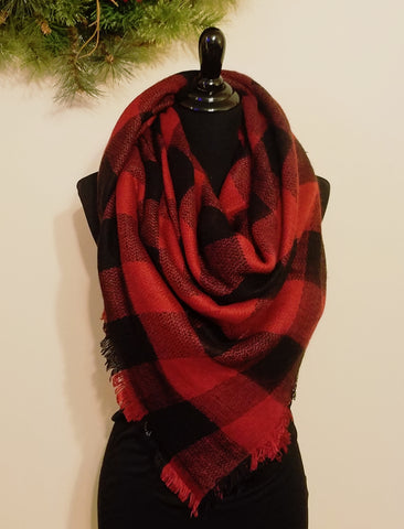 3cb0a7a7bb5cf Buffalo Plaid Blanket Scarf. Scarves Ged Oversized Rural Roots Scarf  Accessory Boutique -> Source. Cabin Blanket Scarf ...