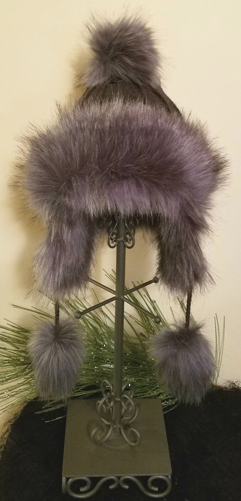 Faux Fur Knit Hat