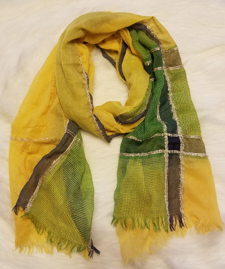 Yellow Multi Stripe Scarf