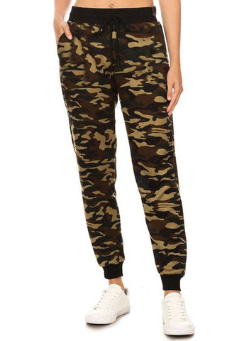 Camouflage Fur Linned Jogger Pant