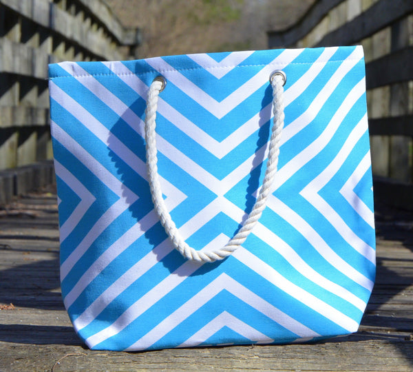 Triangular Chevron Canvas Tote Bag