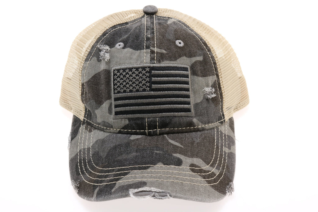 C.C USA Flag Camo Ball Cap