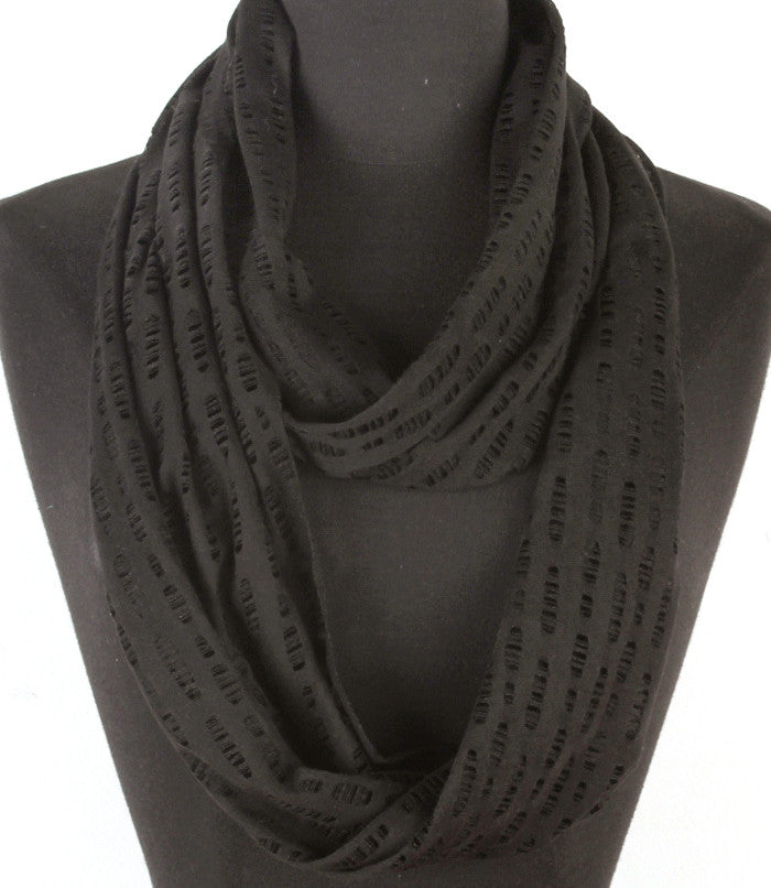 Black Spring Breeze Infinity Scarf
