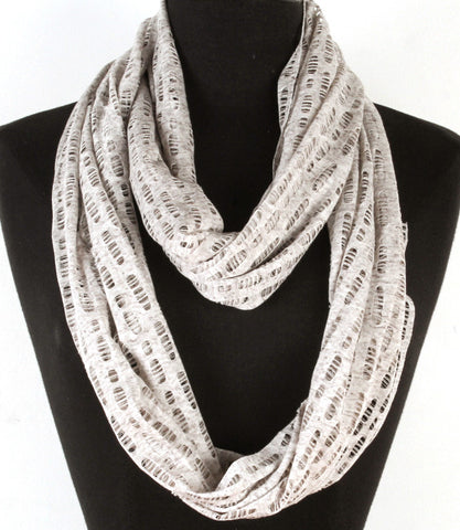 Gray Spring Breeze Infinity Scarf