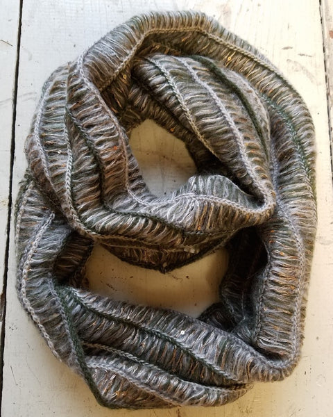 Sequin Knit Infinity Scarf