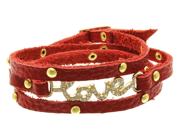 Leather Love Wrap Bracelet