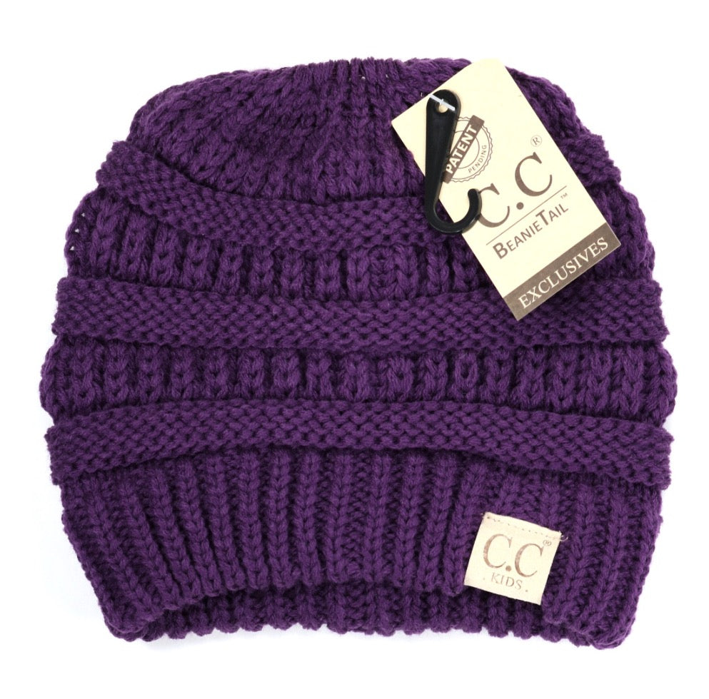 Kids C.C Messy Bun Tail Beanie