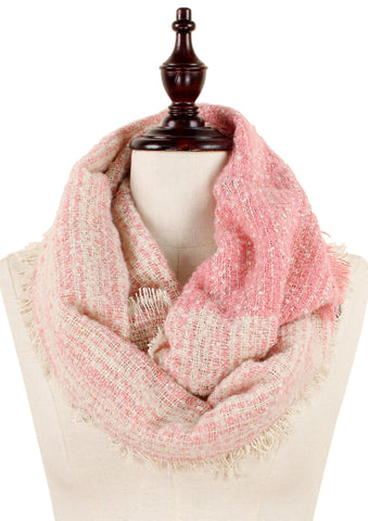 Pink & Cream Infinity Scarf