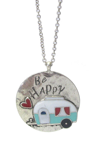 Happy Camper Long Necklace