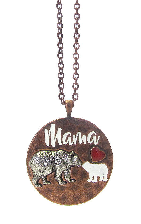 Mama Bear Long Necklace