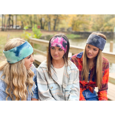 C.C Tie Dye Knit Head Wrap