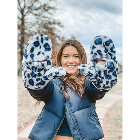 C.C Faux Fur Mitten Gloves