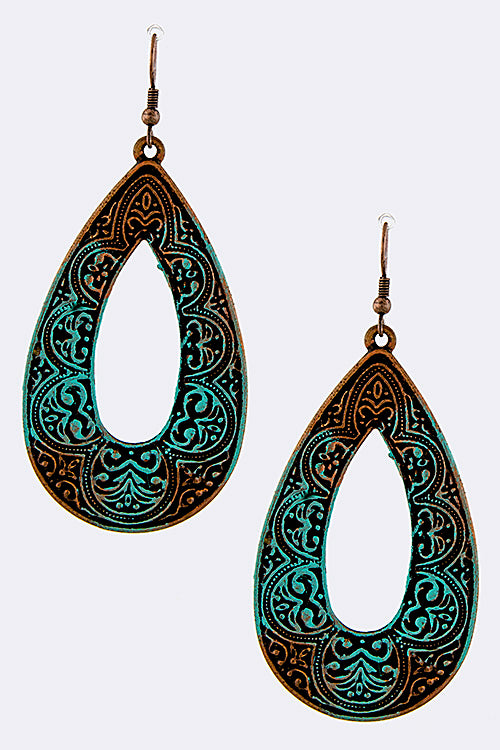 Patina Teardrop Earrings