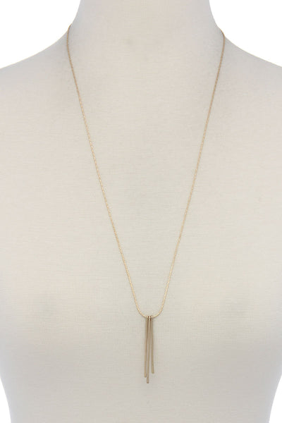 Metal Bar Pendant Necklace
