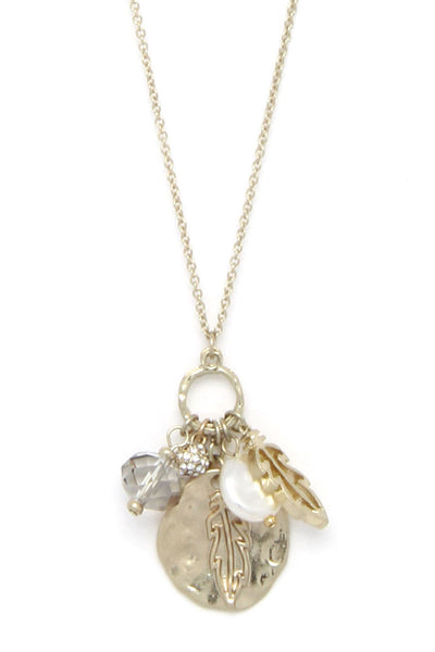 Leaf Charm Adjustable Necklace