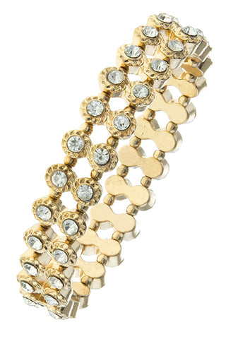 Crystal Double Row Bracelet