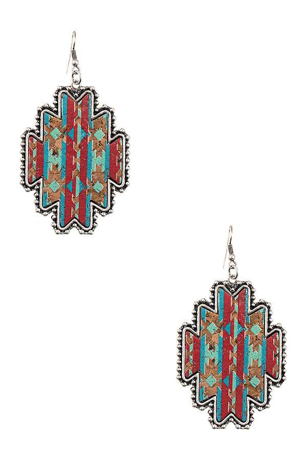 Aztec Print Earrings