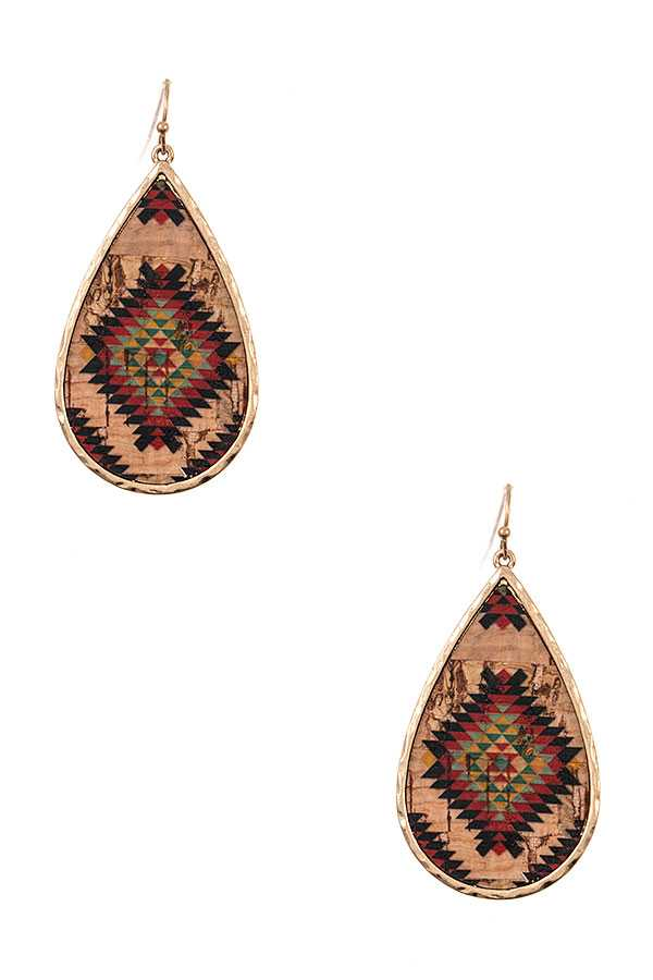 Aztec Teardrop Earrings