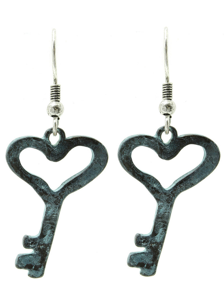 Heart Key Earring