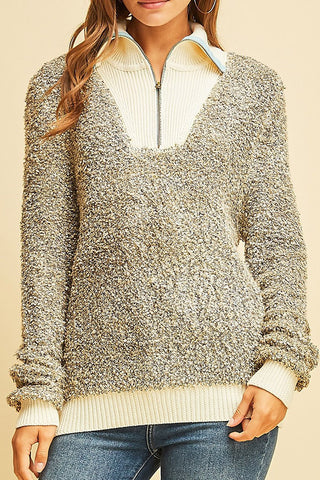 Looped Knit Sweater