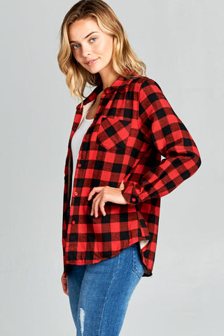 Buffalo Plaid Fleece Lined Flannel