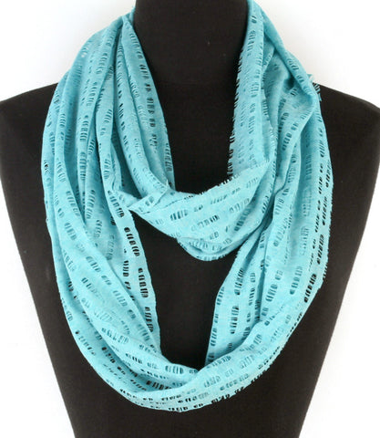 Turquoise Spring Breeze Infinity Scarf