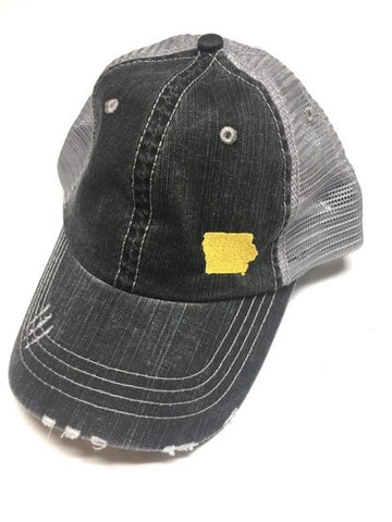 Iowa Distressed Ball Cap
