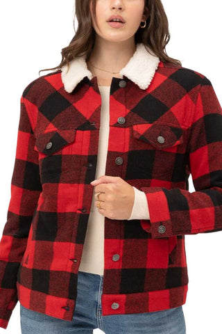 Fleece Lined Buffalo Plaid Jacket