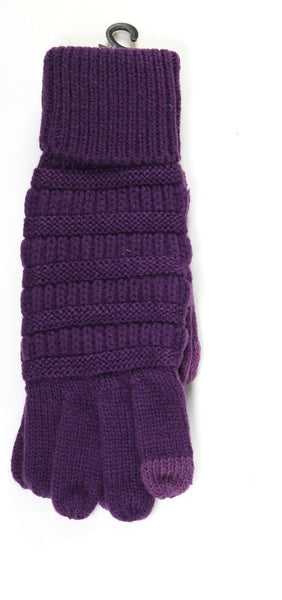 C.C Cable Knit Gloves