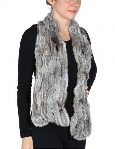 Rabbit Fur Line Scarf