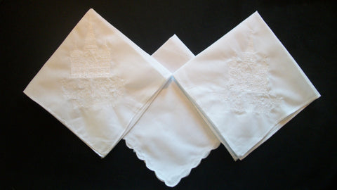 LDS Womens Temple Handkerchief with 2 additional lines
