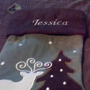 Stocking Name Embroidery
