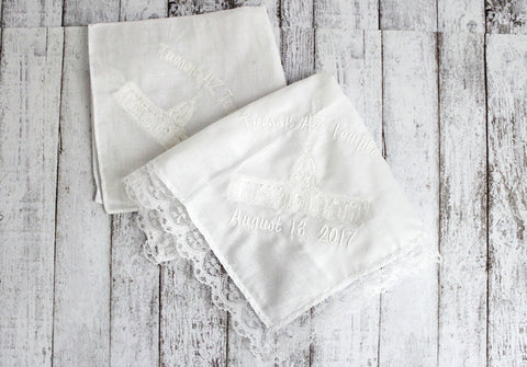 LDS Tucson Temple Men and Women Handkerchief  *lace edge sold out