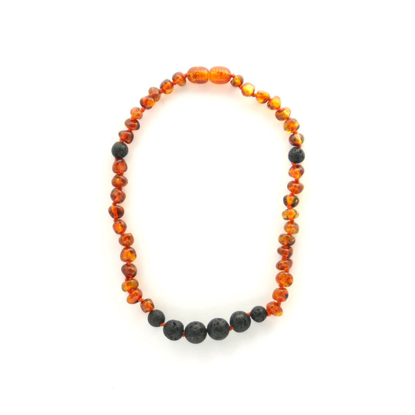 Polished Cognac AromaTherapy Children's Necklace