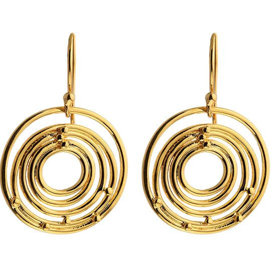 Circles of Life Gold Plated Earrings