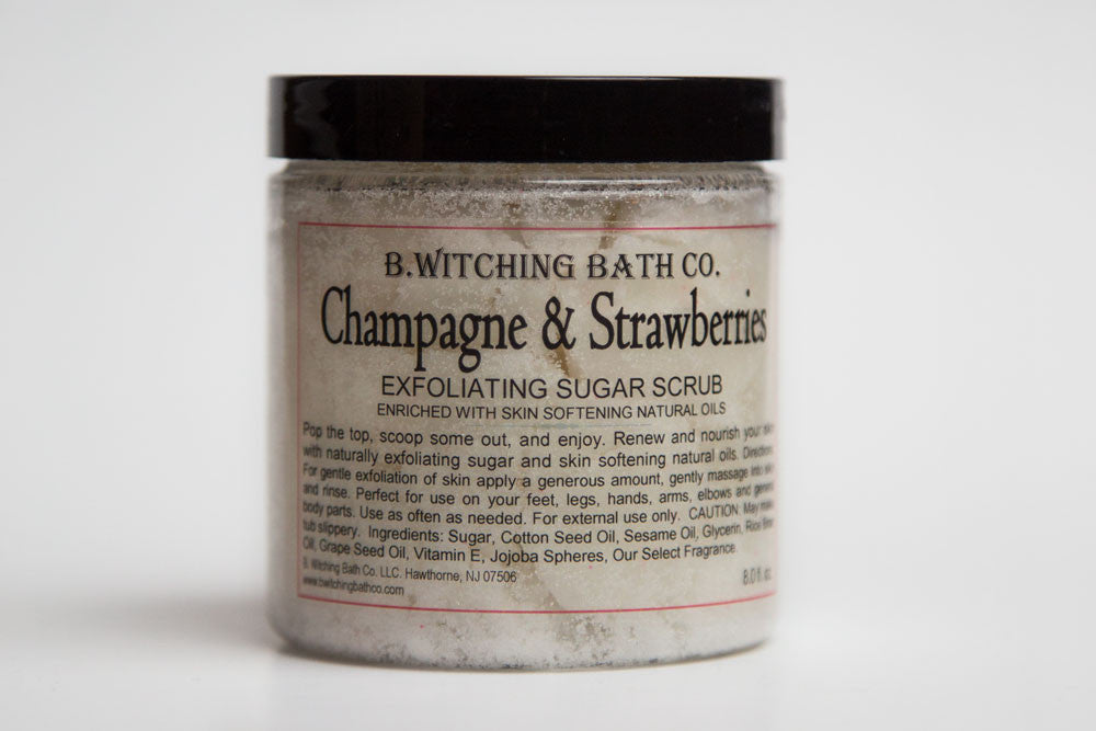 Champagne and Strawberry Exfoliating Sugar Scrub