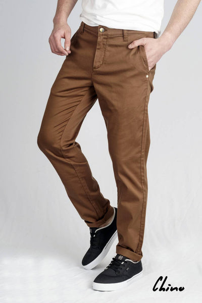 Men's Light Organic Sateen Cocoa Chino Pant