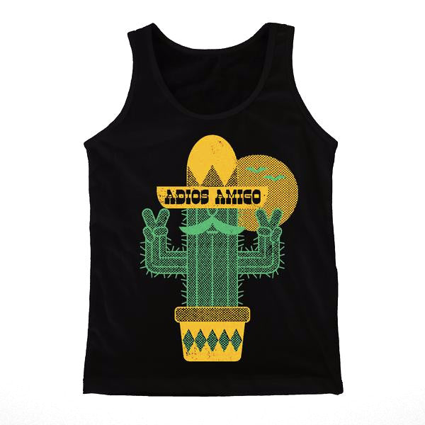 Adios Amigo Black Tank Top