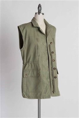 Military Green Military Vest